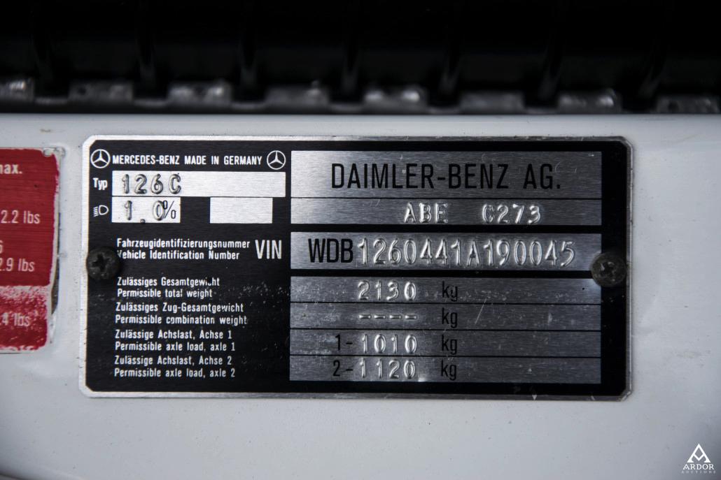 Ardor Auctions | 012 Mercedes-Benz 500 SEC AMG